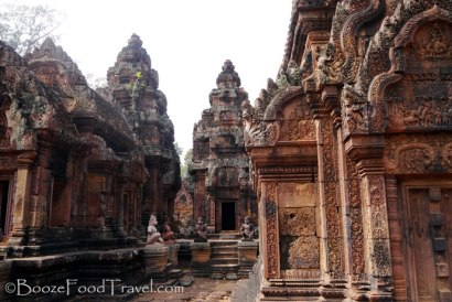 Once the people get out of the way, every angle of Banteay Srei is beautiful for a picture