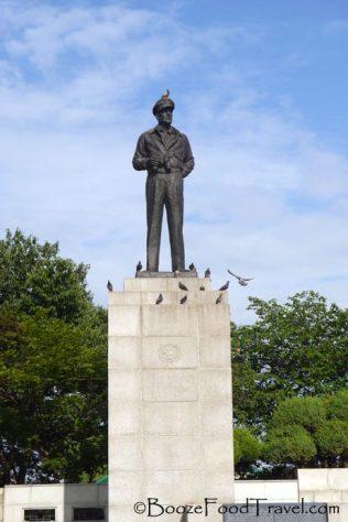 Gen. MacArthur in Jayu Park