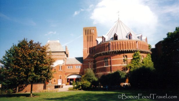 What education in England doesn't include a trip to the Royal Shakespeare Theatre in Stratford?