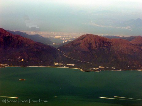 Hong Kong from the airplane