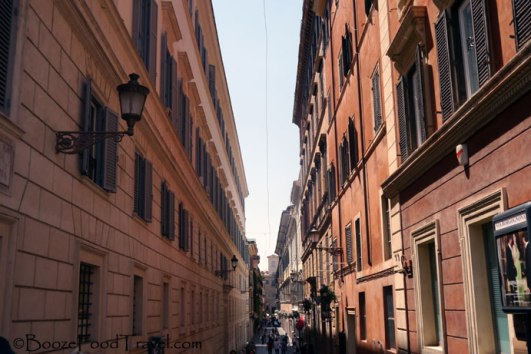 A wholly unremarkable street in Rome. Where was I going at the time?