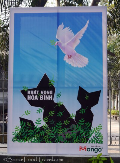 Poster outside the War Remnants Museum in Saigon