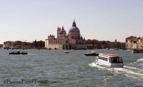 Basilica di Santa Maria della Salute on the way back to Venice