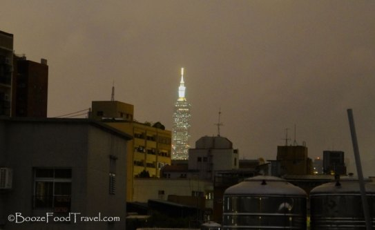 Taipei 101 in the distance from my balcony