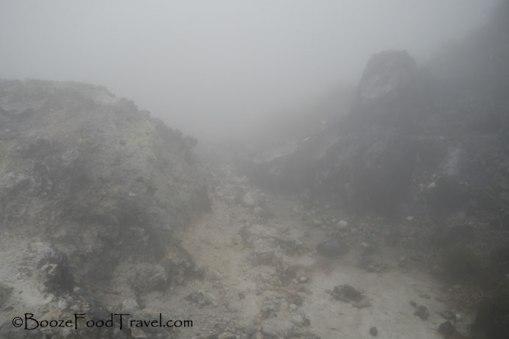 The sulfur fumes were strong along this part of the hike