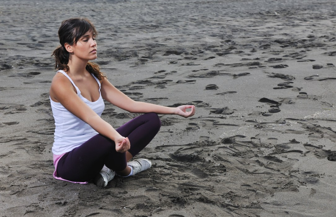 meditating woman, related to stop drinking