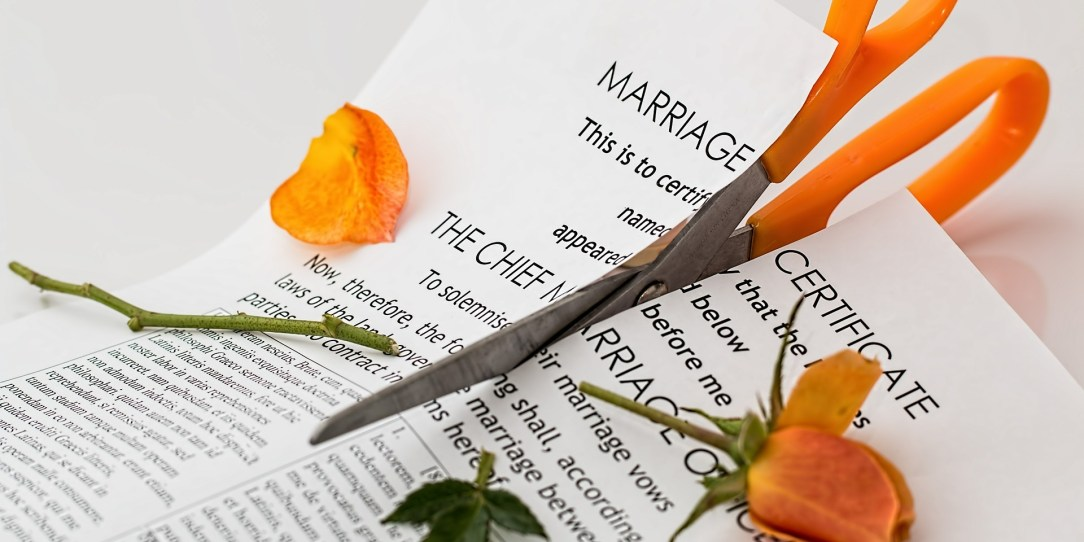 divorce papers, in the context of drinking