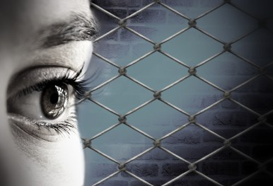 woman's eye and fence, related to Alcohol Free life