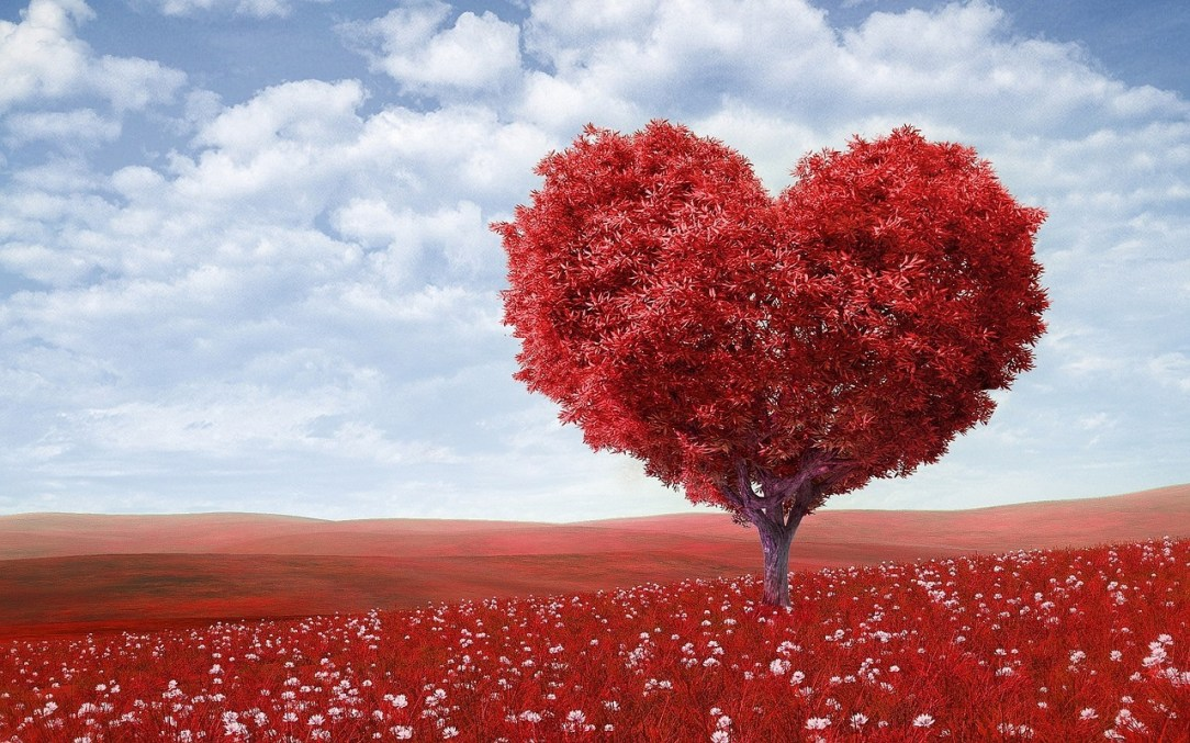 Tree shaped as a red heart, regarding Alcohol free living