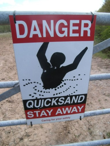 quicksand signal, related to reaching rock bottom regarding drink
