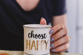 Choose happy mug, related to alcohol free living