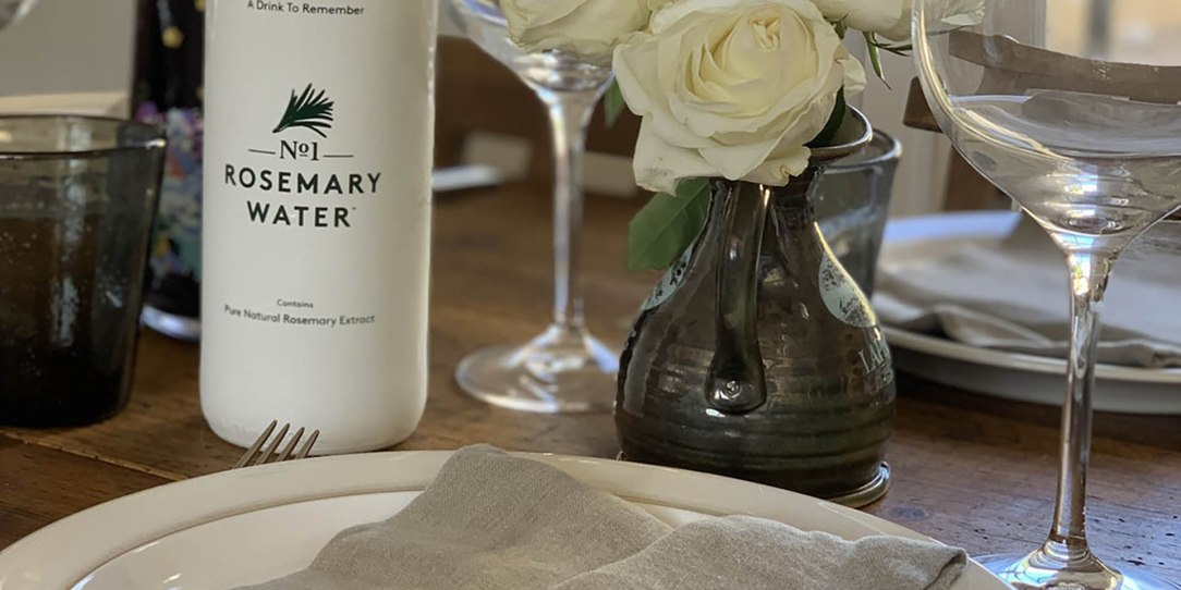 Alcohol free dinner party setting