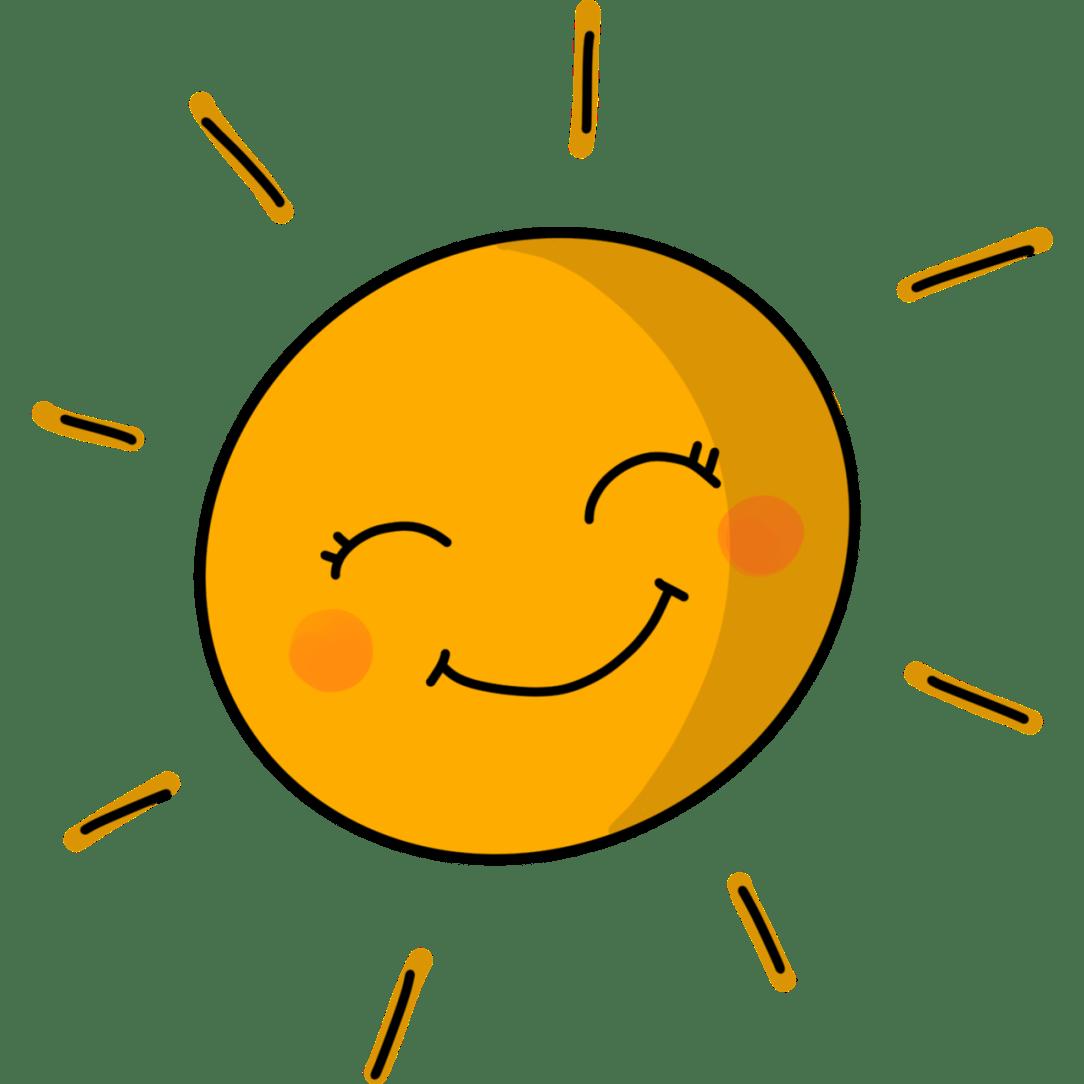 happy sober sun