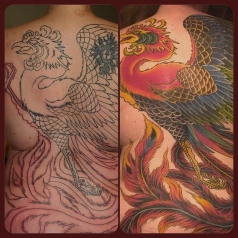 From outline to color-six months