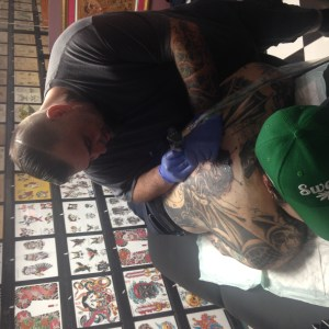 Molina working on Demian at Senzala Tattoo
