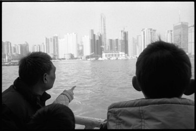 The ferry boat on the huangpu river, crossing from the old Shanghai to a brand new world.
