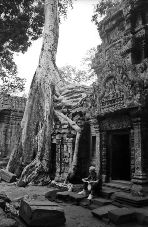 Cambodia. Angkor, a hot afternoon
