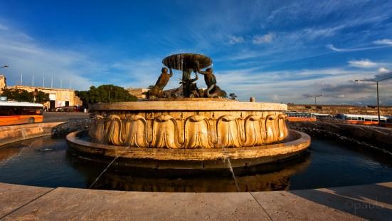 20th century Triton fountain by a local sculptor