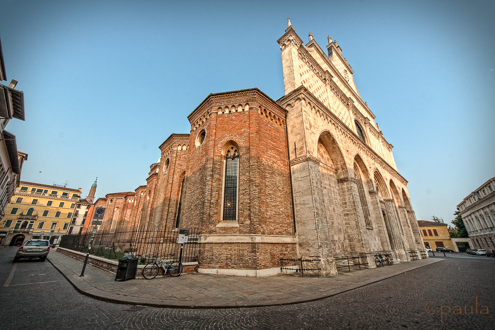Vicenza Cathedral (16th cent.) for which Palladio designed the cupola and the north portal.