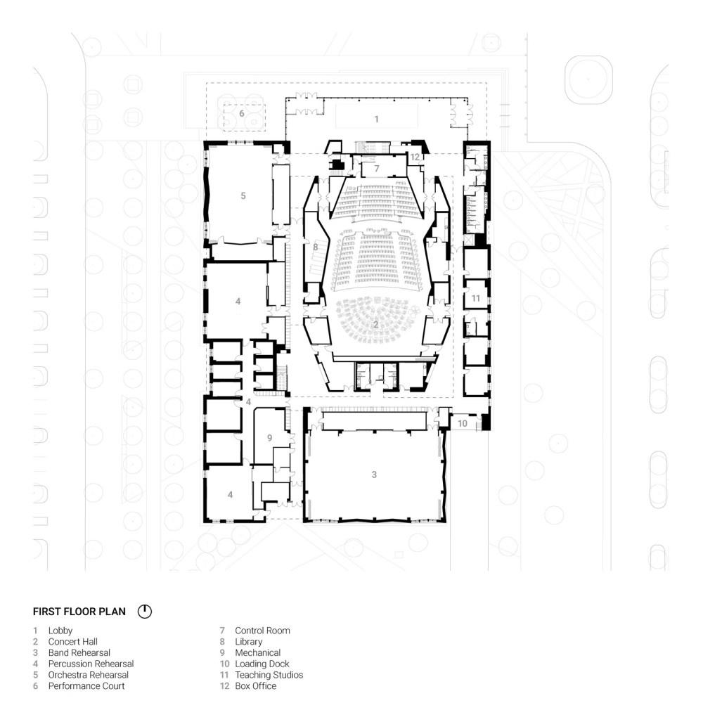 medium resolution of texas christian university school of music arts precinct plan