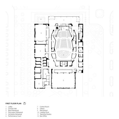 small resolution of texas christian university school of music arts precinct plan
