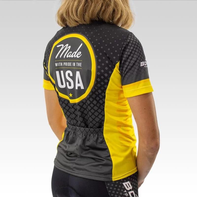 Women's Team Club Cut Cycling Jersey - 3qtr