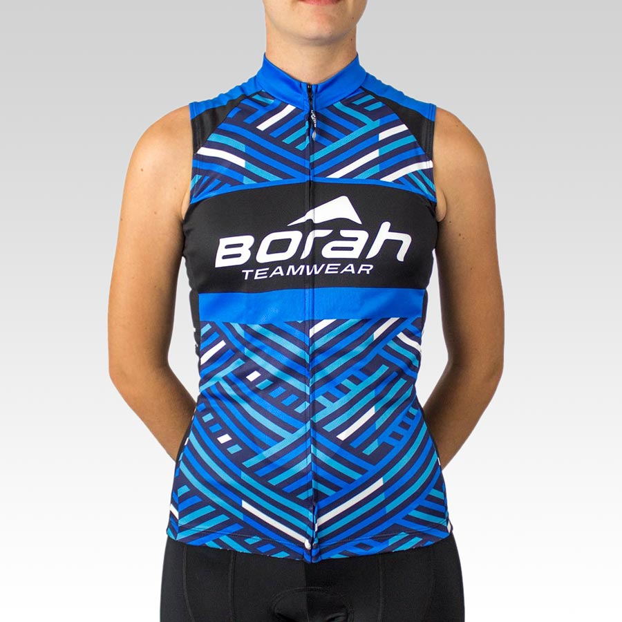 Women's Team Sleeveless Cycling Jersey - Front