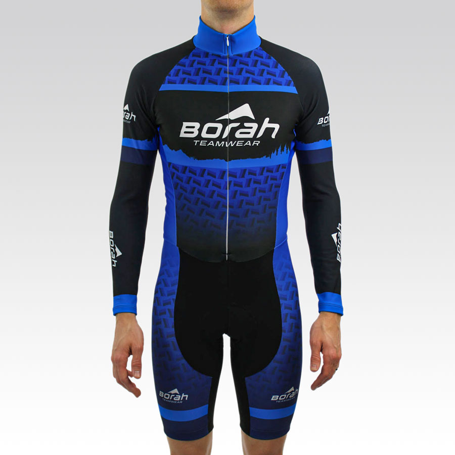 Team Thermal Long Sleeve Cycling Skin Suit Gallery1