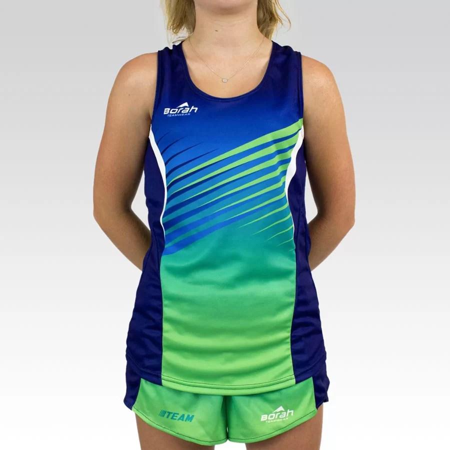 Women's Team Running Singlet Gallery1
