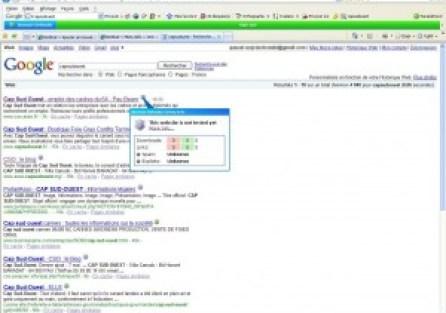 Evaluer un site directement depuis les résultats d'une recherche