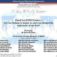 BNHS Administration - Principal & Faculty Members