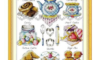 Quadro de Cozinha Hora do Chá Azul 1