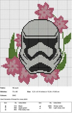 stormtrooper star wars ponto cruz 1