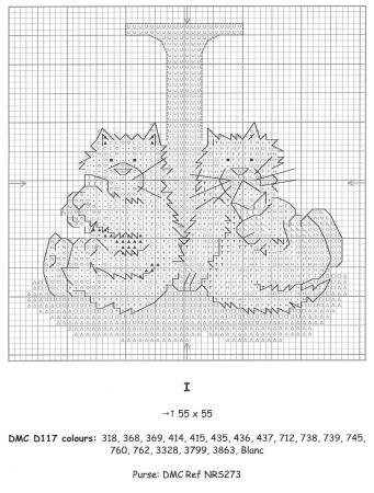 Alfabeto Gatos DMC marmalade cats 11