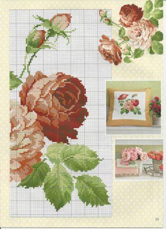 Almofada Rosa Branca e Vermelha 3