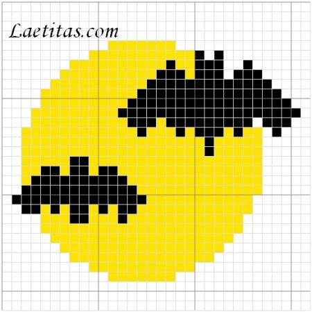 Morcegos em ponto cruz 03