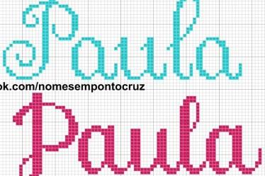 nome Paula BordadoPontoCruz com 02