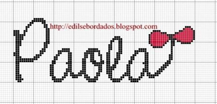 nome Paola BordadoPontoCruz com 02