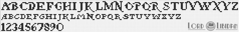 Monograma Alfabeto Pequenos BordadoPontoCruz com 31