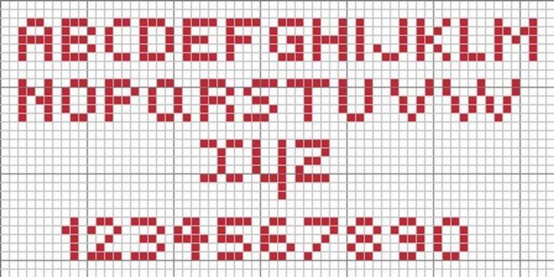 Monograma Alfabeto Pequenos BordadoPontoCruz com 55