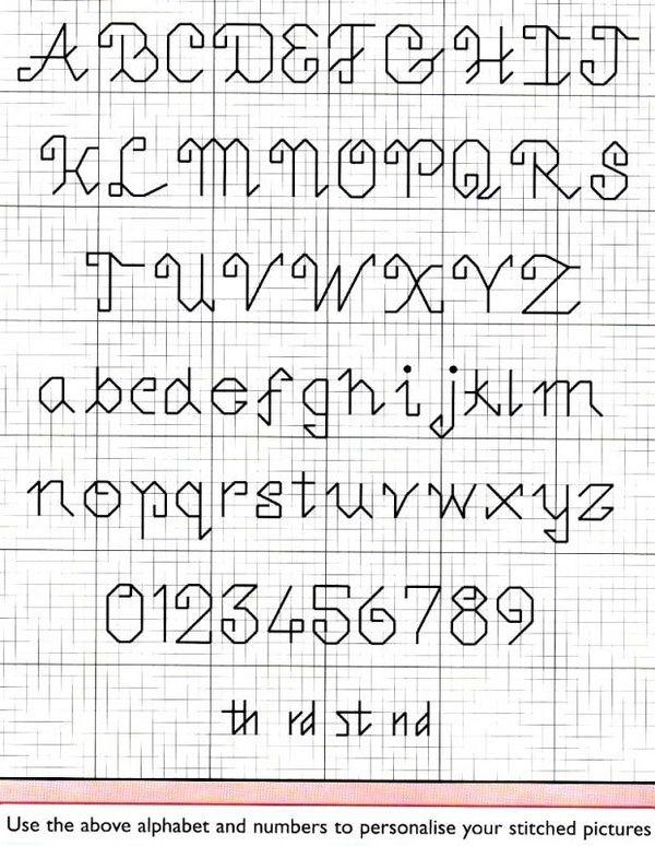 Monograma Alfabeto Pequenos BordadoPontoCruz com 57