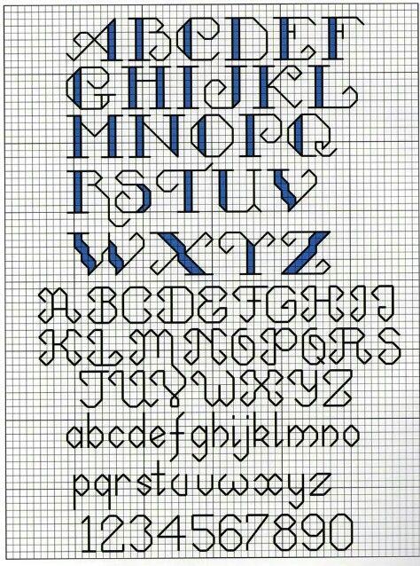 Monograma Alfabeto Pequenos BordadoPontoCruz com 60