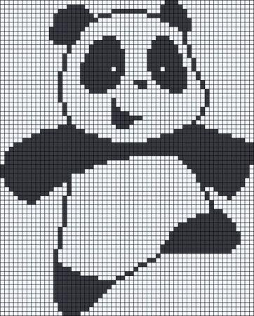 Urso Ursinho Panda BordadoPontoCruz 018