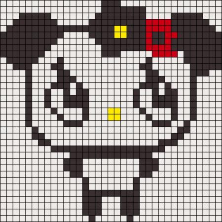 Urso Ursinho Panda BordadoPontoCruz 030