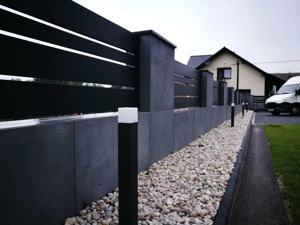ogrodzenie murowane ogrodzenia border ogrodzenia aluminiowe alugate beton architektoniczny rfid videodomofon 6