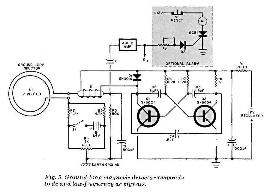 pulse induction metal detector circuit
