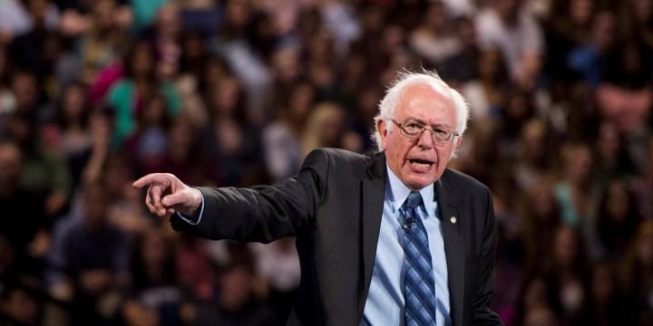 Presidential candidate Sen. Bernie Sanders speaks at Liberty University