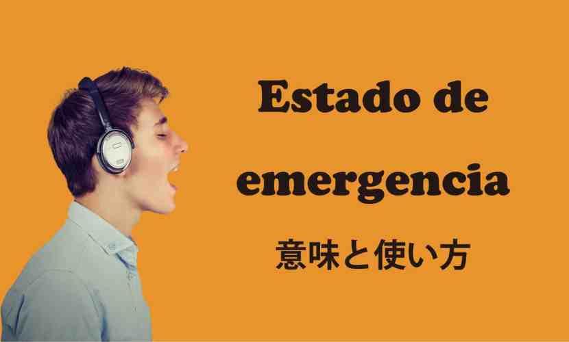 estado de emergencia ブログ 表紙
