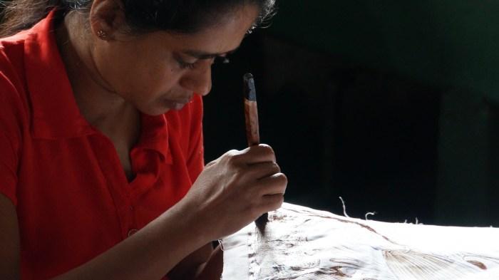Batik making in Kandy