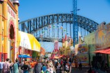Set in the shadow of the harbour bridge give a break from the grind of the city throwing you into the wonderfully whacky world of an old 1900's style fair.